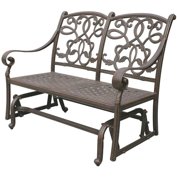 Calhoun Glider Bench with Cushion by Fleur De Lis Living
