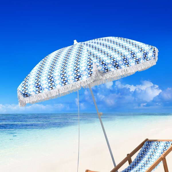 Leasure Fiberglass Portable 6.5' Beach Umbrella By Bungalow Rose