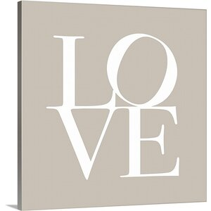 'Love' by Michael Tompsett Textual Art on Wrapped Canvas by Great Big Canvas