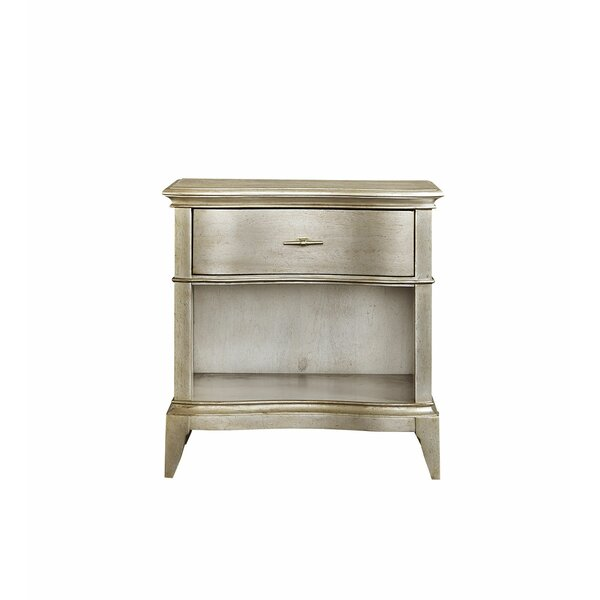 Stanmore Open 1 Drawer Nightstand by Rosdorf Park Rosdorf Park