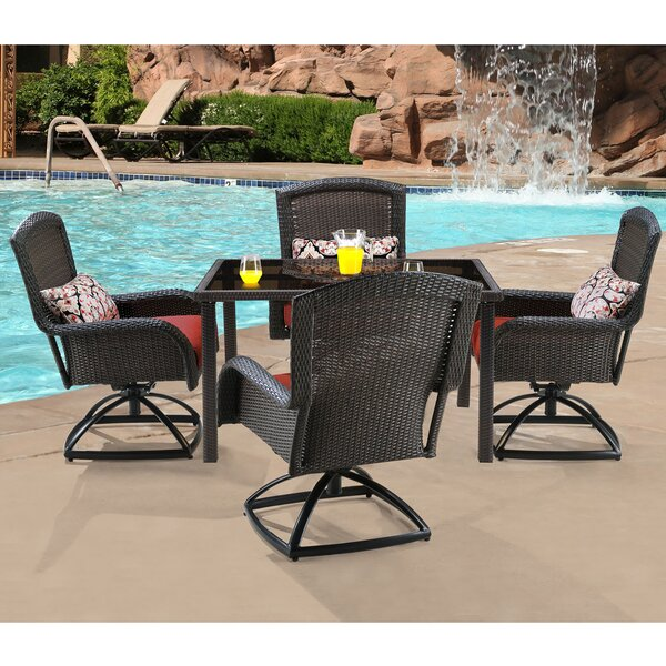 Billington 5 Piece Swivel Dining Set with Cushions by Brayden Studio