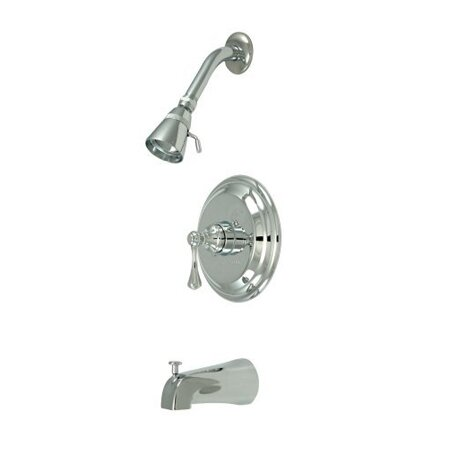 Volume Control Tub and Shower Faucet with Buckingham Lever Handles by Elements of Design
