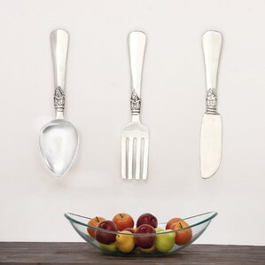 Spoon Wall Decor large spoon and fork wall decor | wayfair