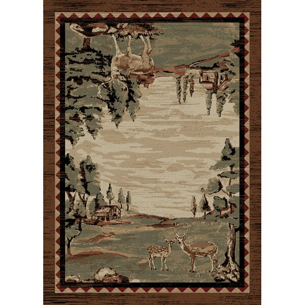 Chateaux Brown Area Rug by Loon Peak