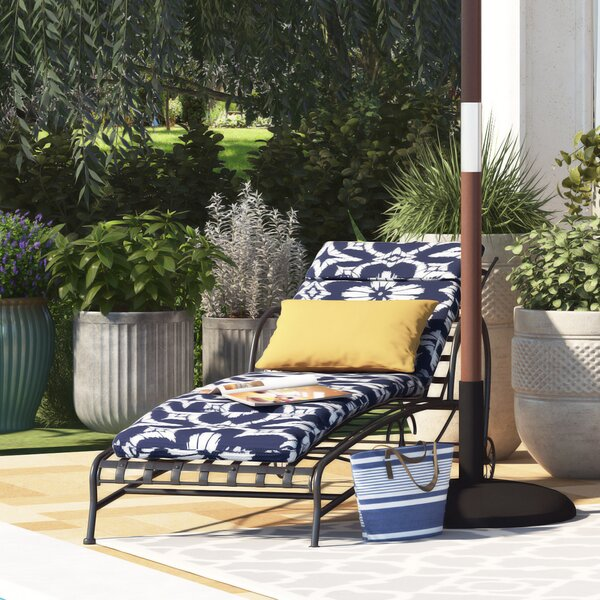 Spun Polyester Indoor/Outdoor Chaise Lounge Cushion by Alcott Hill