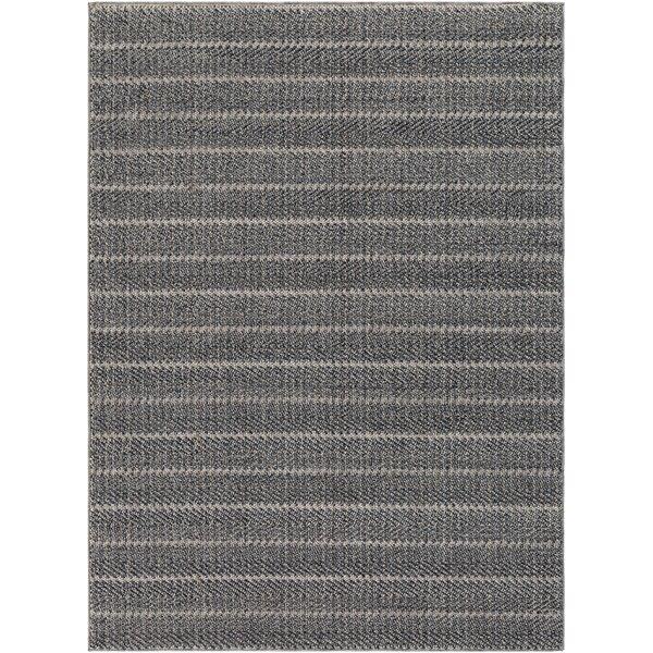Nya Striped Charcoal Indoor / Outdoor Area Rug