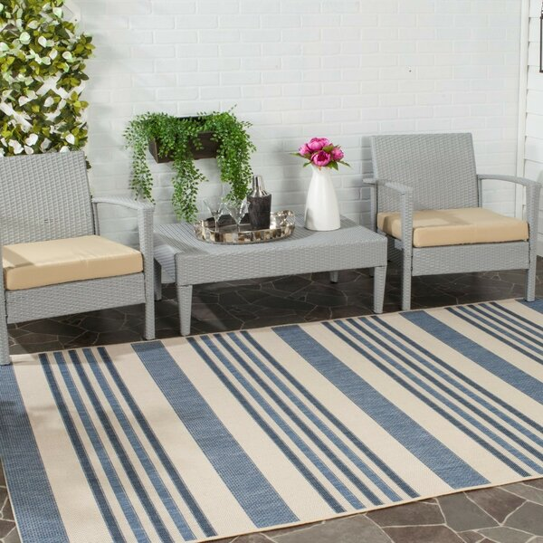 Octavius Area Blue/Beige Rug by Charlton Home