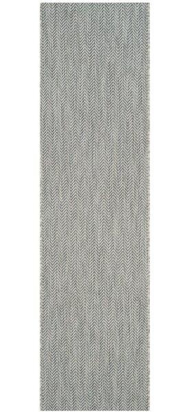 Mullen Gray/Navy Indoor/Outdoor Area Rug by Ebern Designs