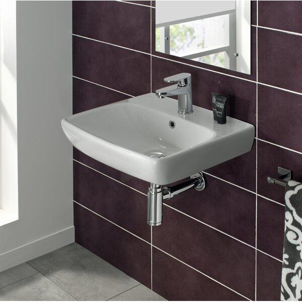 Energy Ceramic 20 Wall Mount Bathroom Sink with Overflow by Bissonnet