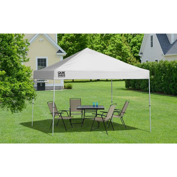 9.5 Ft. W x 9.5 Ft. D Steel Pop-Up Canopy by QuikShade