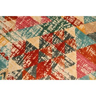 Buy luxury Izaak Vintage Cream/Red Area Rug By Ivy Bronx