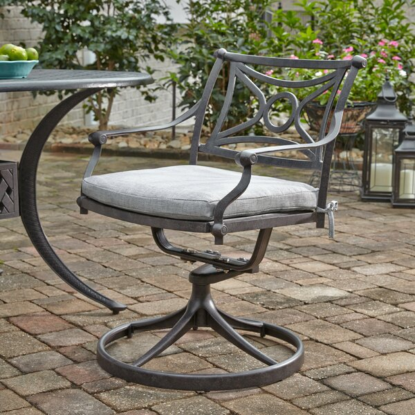 Flagg Cast Aluminum Outdoor Swivel Patio Dining Chair By Darby Home Co