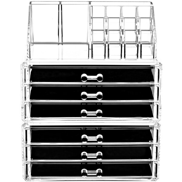 3 Piece  Clear Cosmetic Organizer Set by Rebrilliant