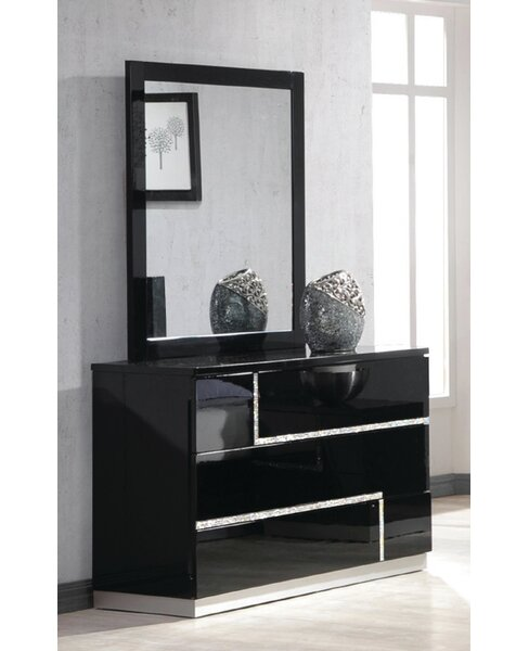 Lowrey 3 Drawer Dresser with Mirror by Wade Logan
