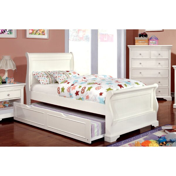 Stovall Sleigh Bed with Trundle by Harriet Bee
