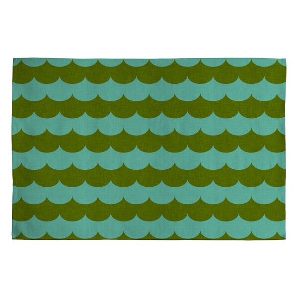Holli Zollinger Green Striped Area Rug by Deny Designs