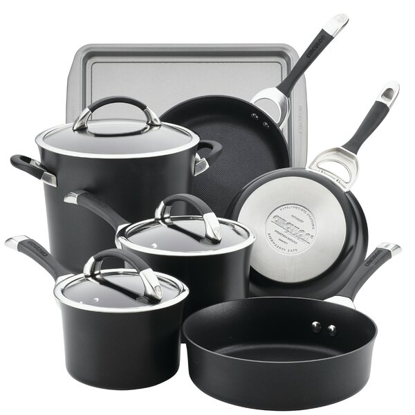 Symmetry 9 Piece Hard-Anodized Non-stick Cookware Set by Circulon