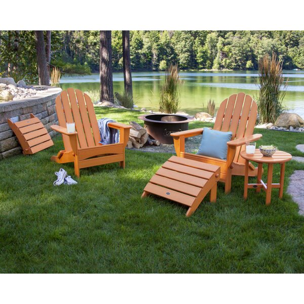 Classic Adirondack Oversized Curveback 5 Piece Seating Group POLYWOOD® OCGV1273