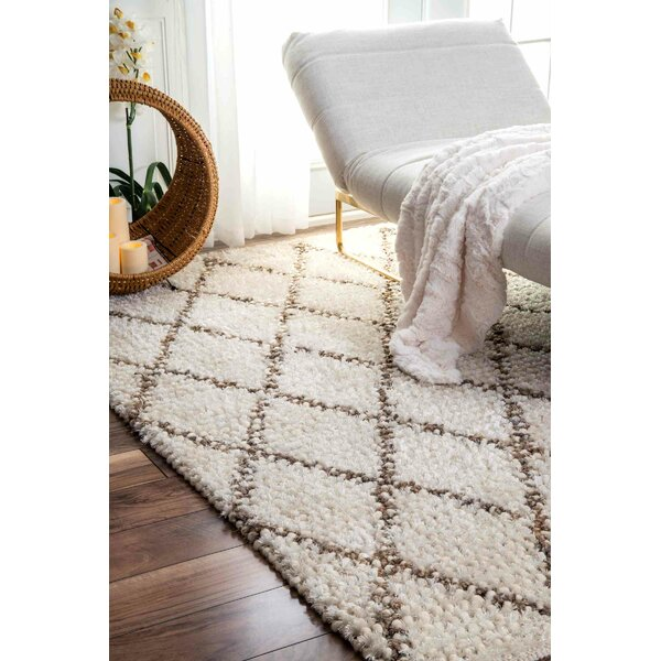 Racquel Hand-Hooked Ivory Area Rug by Mistana