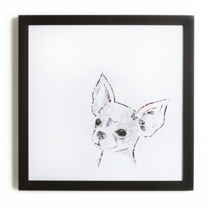 'Chihuahua' Framed Painting Print by Zipcode Design