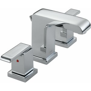 Arzo Widespread Double Handle Bathroom Faucet with Drain Assembly
