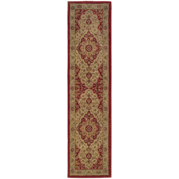 Barrows Red/Gold Area Rug by Alcott Hill