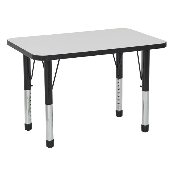 Dry-Erase Adjustable 36 x 24 Rectangular Activity Table by ECR4kids