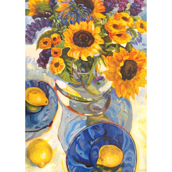 Afternoon Sunflowers 2-Sided Garden flag by Toland Home Garden