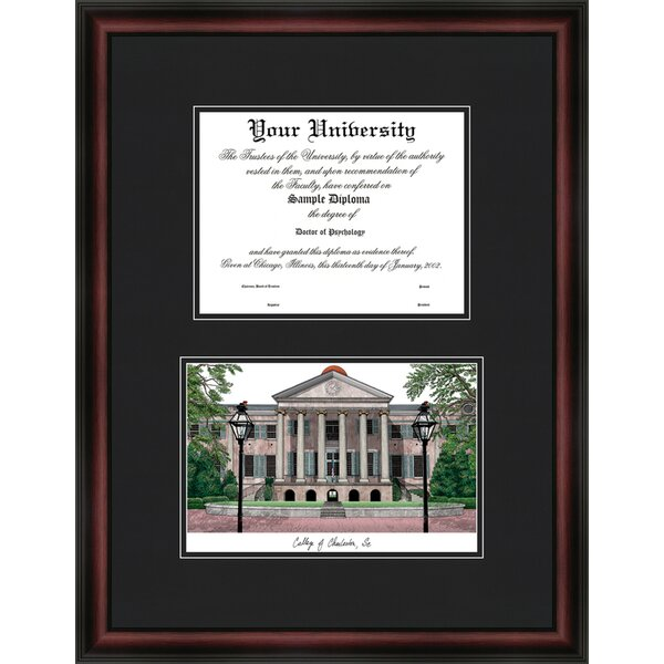 NCAA College of Charleston Diplomate Diploma Picture Frame by Campus Images