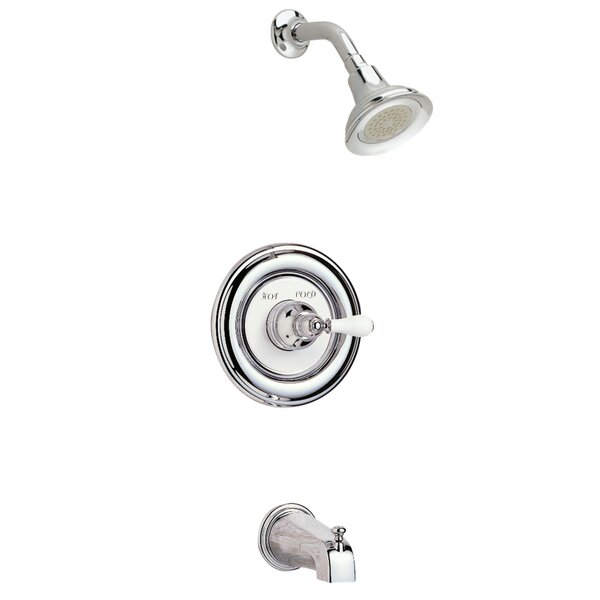 Hampton Bath/ShowerTrim Kit With Porcelain Lever Handle by American Standard