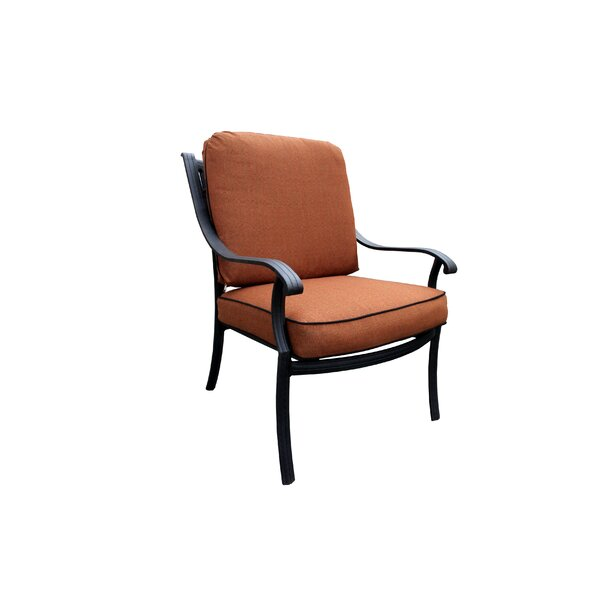 Sunderland Patio Chair with Sunbrella Cushions by Fleur De Lis Living