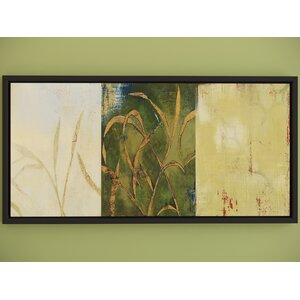 Grass Framed Painting Print by Three Posts