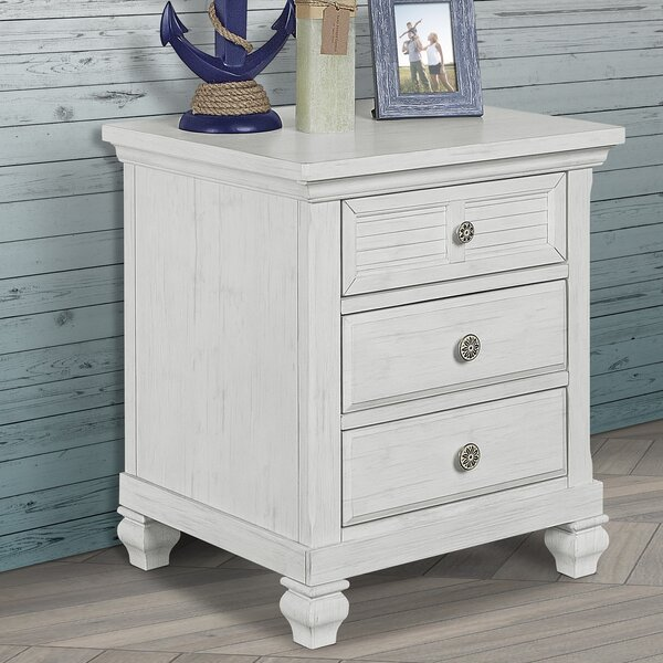 Cape May 3 Drawer Nightstand by Evolur