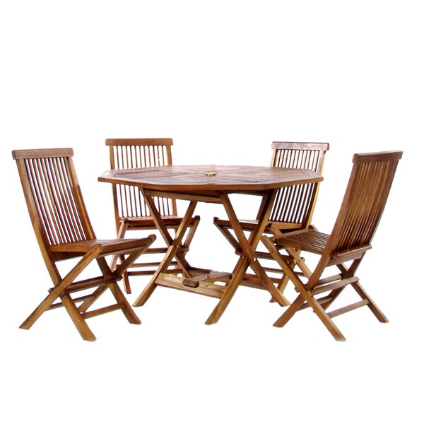 Drakeford 5 Piece Dining Set by Bay Isle Home
