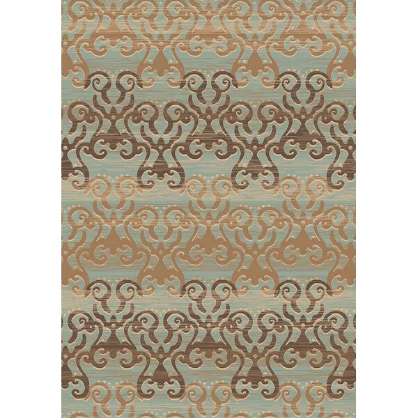 Eckert by Art 1895 Blue/Beige Area Rug by Winston Porter