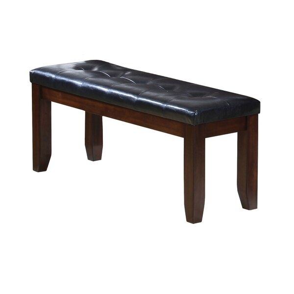 Stanley Brown/Black Wood Bench by Alcott Hill