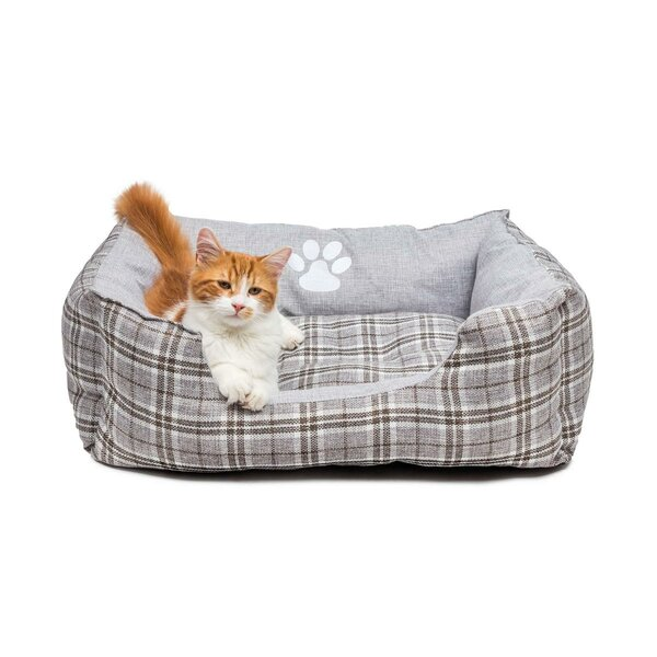 Harlee Large Square Pet Bolster with Comfortably Padded by DR International