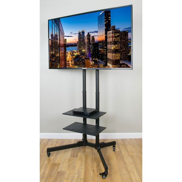 TV AV Cart for LCD LED Plasma Flat Panels Stand with Wheels Mobile fits 37 to 70 by Vivo