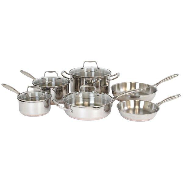 Hallmark 10 Piece Stainless Steel Cookware Set by Oneida