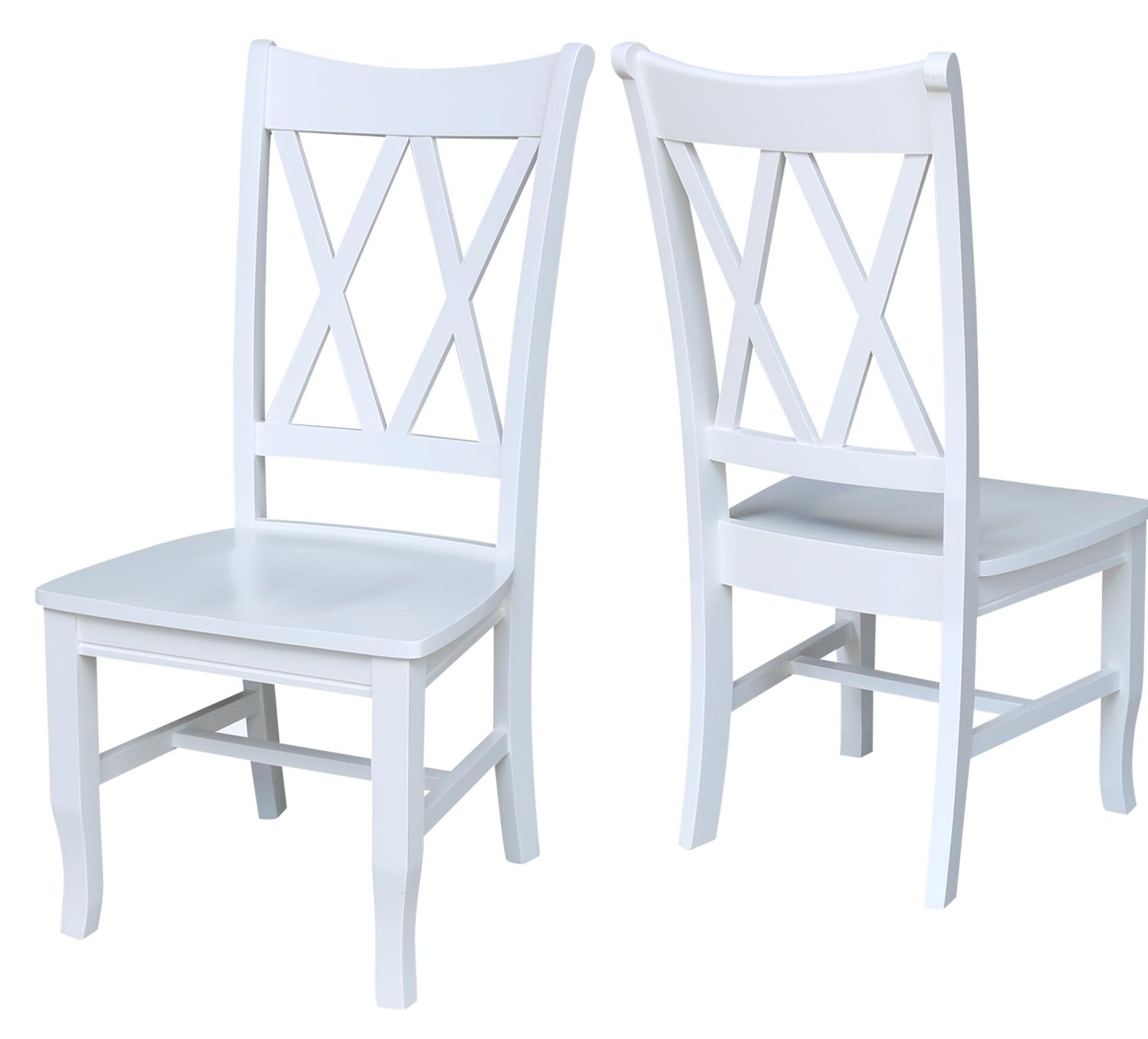 Swell White Double X Back Dining Chair Ibusinesslaw Wood Chair Design Ideas Ibusinesslaworg