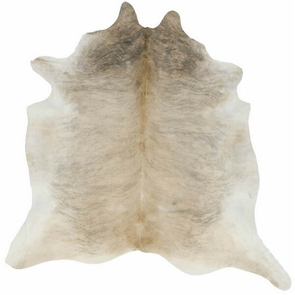 Lettie Hand-Woven Cowhide Tan Area Rug by Millwood Pines