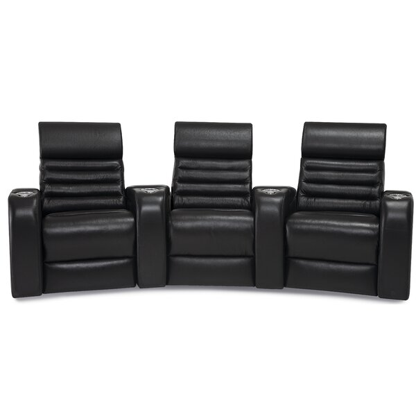 Review Alexandria Curved Home Theater Sofa (Row Of 3)