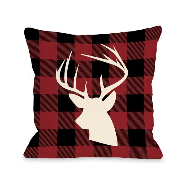 Comet Plaid Throw Pillow by One Bella Casa