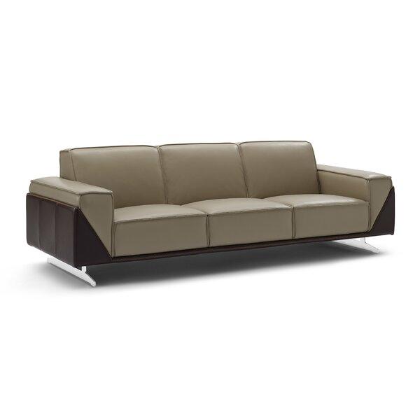 Bonneauville Leather Sofa by Orren Ellis