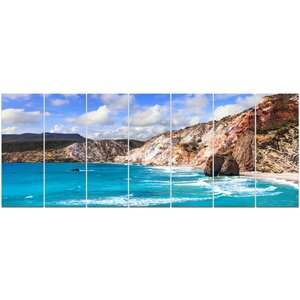 'Greek Islands Scenic Beaches' Photographic Print Multi-Piece Image on Canvas by Design Art