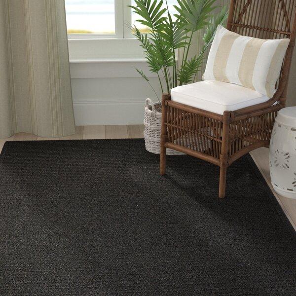 Isleta Hand-Woven Black Area Rug by Bay Isle Home