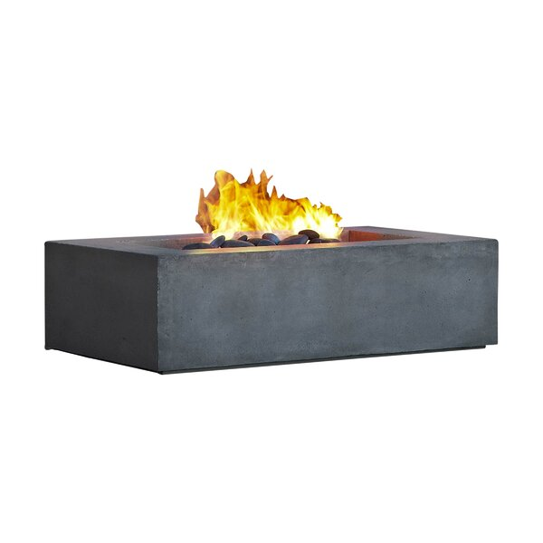 Baltic Concrete Natural Gas Fire Pit Table by Real