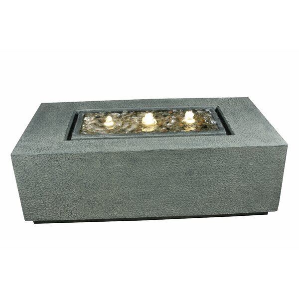 Resin Coffee Table Bubbling Fountain with Light by Hi-Line Gift Ltd.