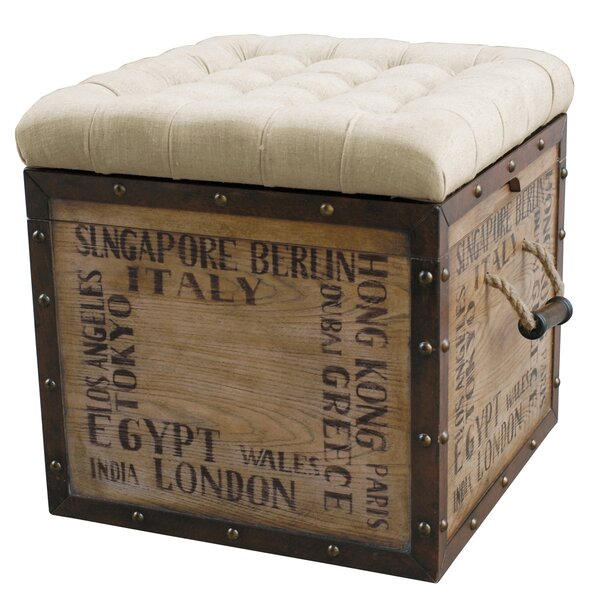 Chilhowee Tufted Storage Ottoman by Lark Manor