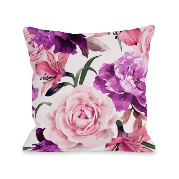 A Floral Afternoon Throw Pillow by One Bella Casa